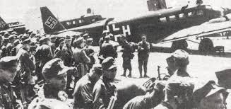 world war 2 in Crete. german paratroopers preparation assault Crete