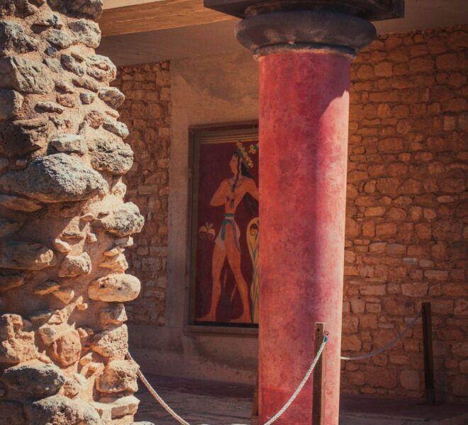 knossos palace minoan fresque