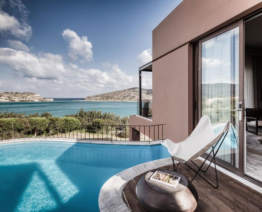 Domes of Elounda spa resort hotal sea view