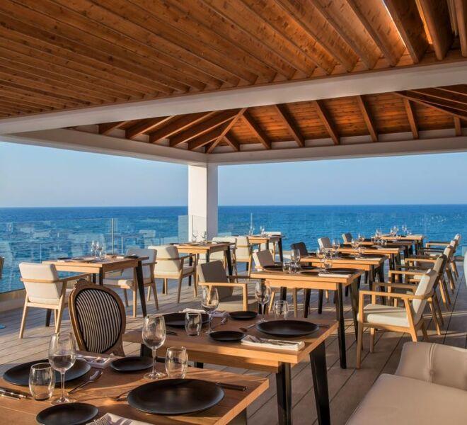 abaton island resort and spa restaurant view