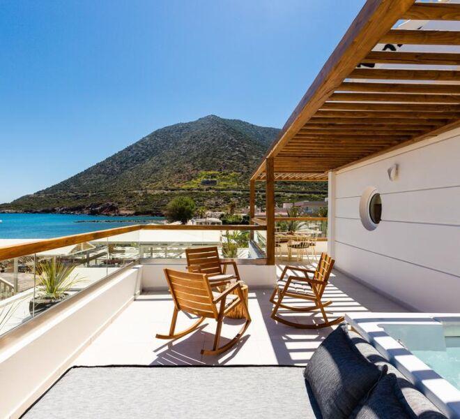 Nostos beach boutique hotel terrace private