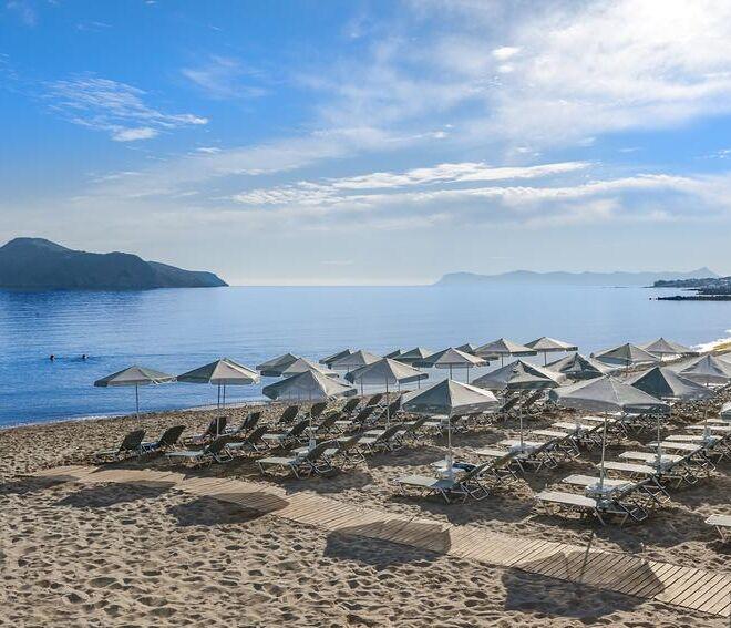 Porto Platanias Beach Resort & Spa beach view