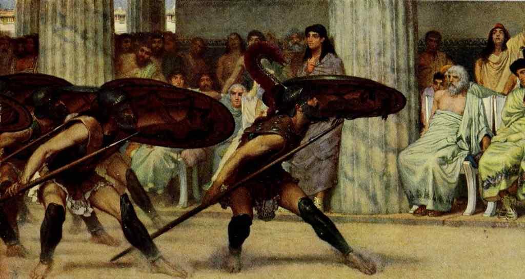 dorian period in crete. pyrrhic dance