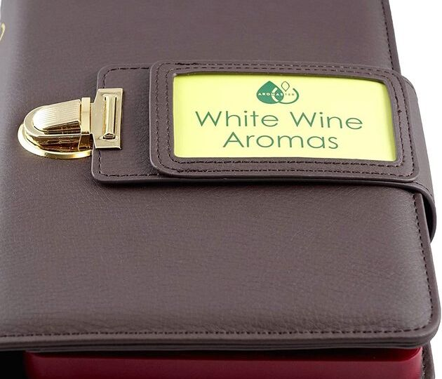 White Wine Aroma Kit - 12 Aromas with aroma wheel front look small