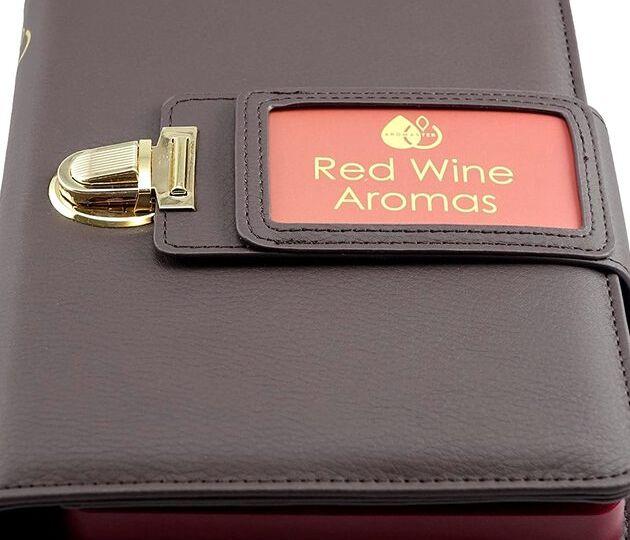aromaster red wine 12 aromas box with aroma wheel front small