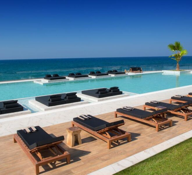 abaton island resort and spa swimming pool sea view