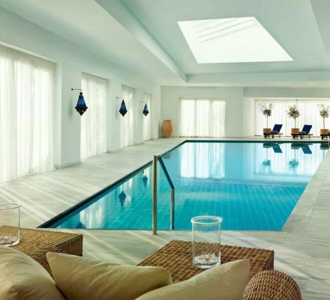 Blue palace Elounda spa resort indoor pool