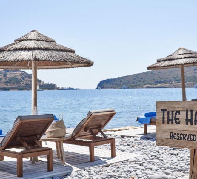 Blue palace Elounda private beach