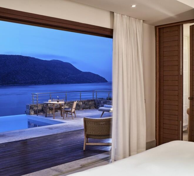 Blue palace Elounda spa resort suite with swimming pool