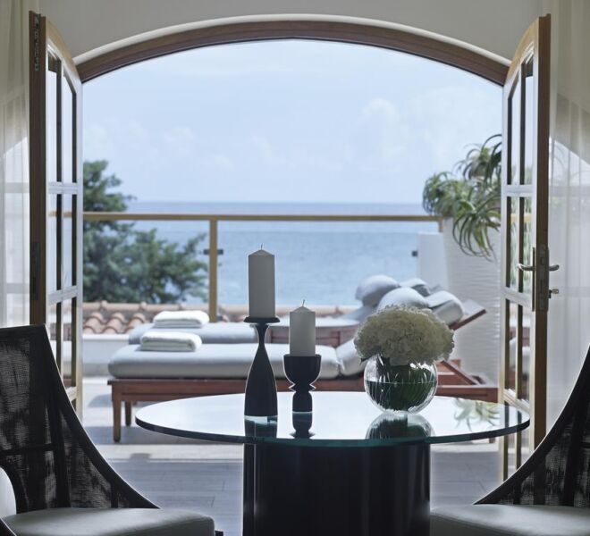 creta maris hotel spa resort room sea view