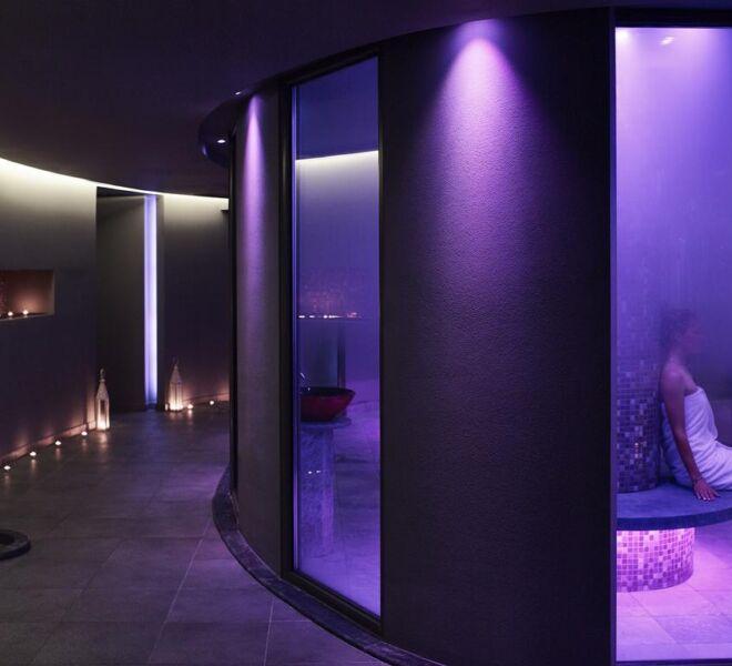 creta maris spa resort sauna room