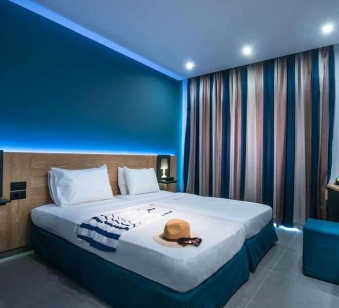 Infinity blue boutique hotel bedroom