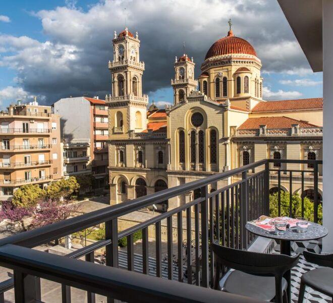 Metropole urban hotel balcony heraklion view