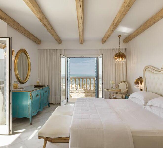 mitsis laguna resort and spa bedroom sea view