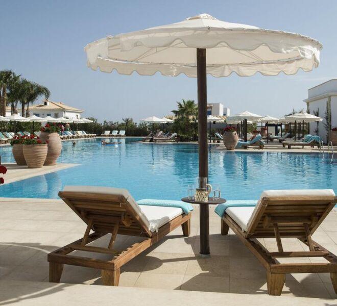 mitsis laguna resort and spa swimming pool view