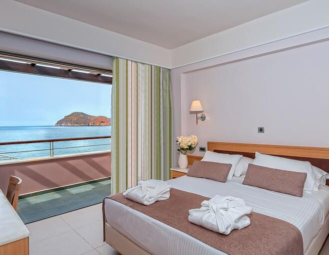 Porto Platanias Beach Resort & Spa vedroom sea view
