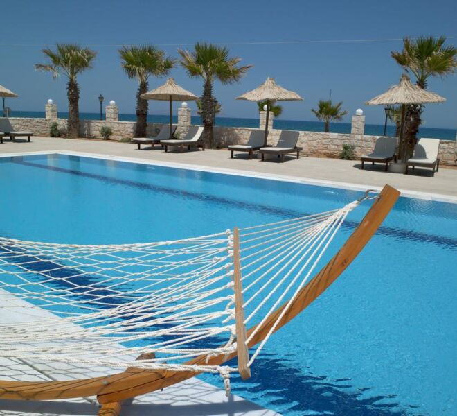 stella palace resort and spa swimming pool view
