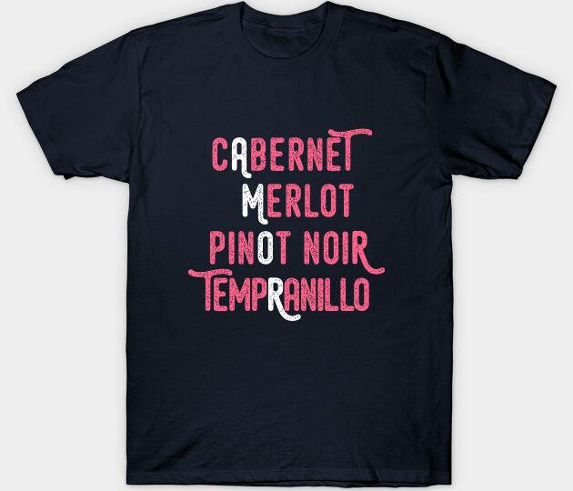 Amor wine t shirt navy blue color