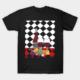 Naïve art style t shirt black color