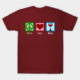 Peace love and wine t shirt maroon color