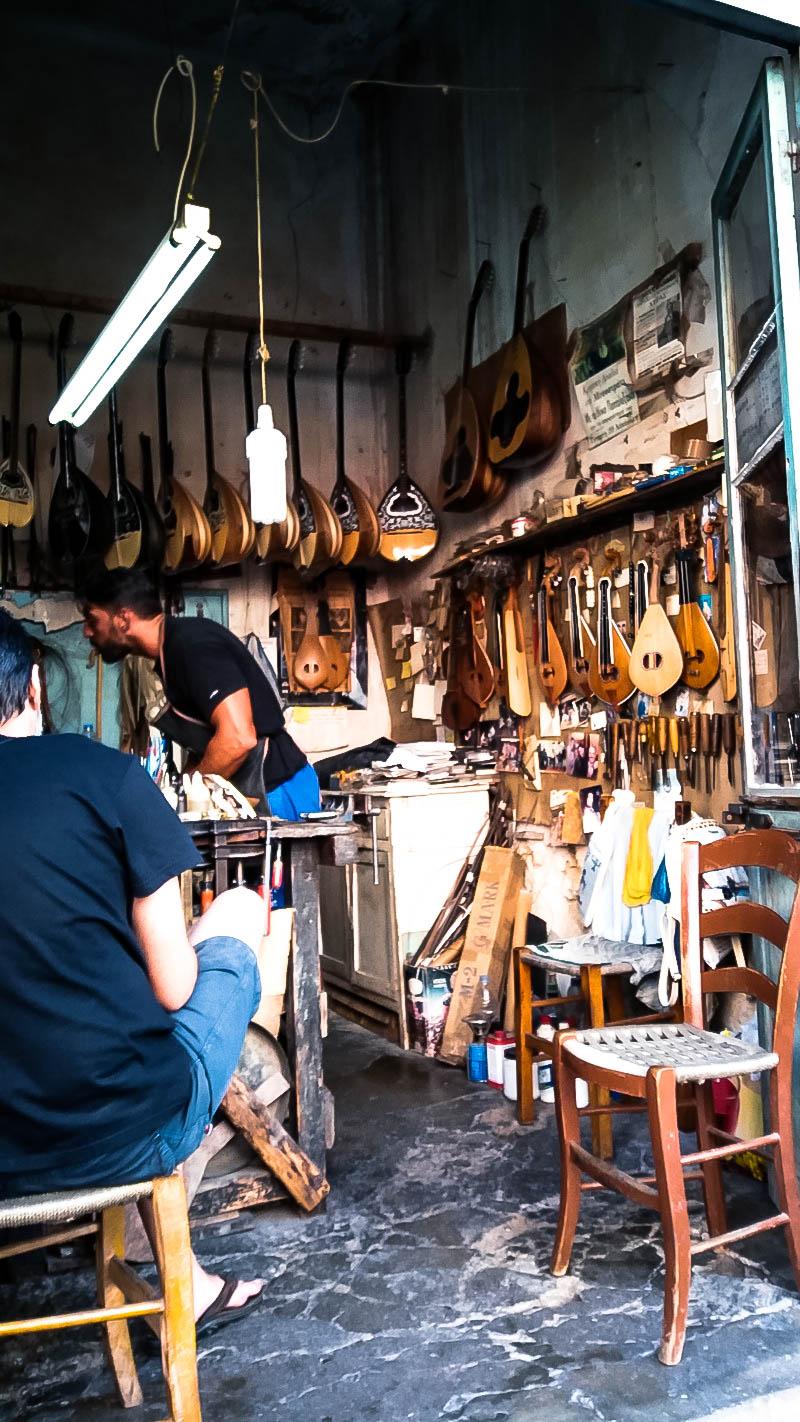 Rethymno town laouto shop