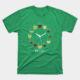Wine o clock t shirt vintage green color