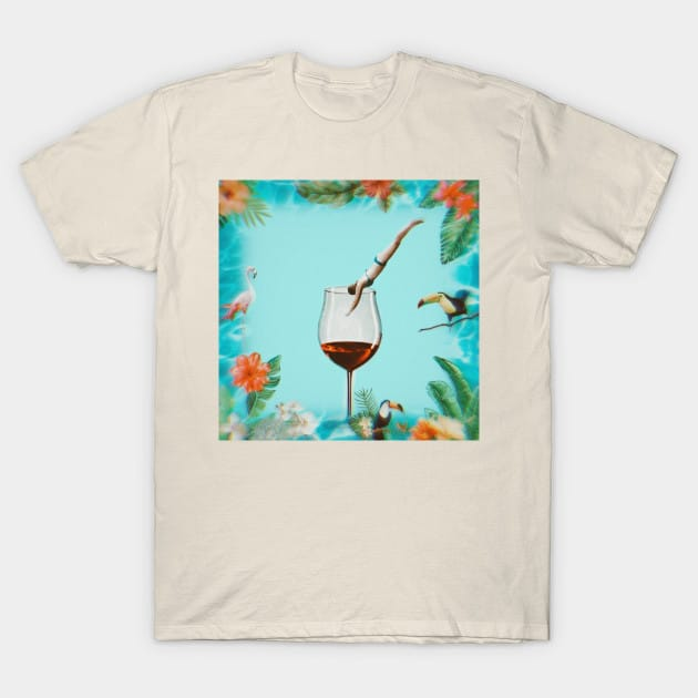 A dip in wine t shirt cream color